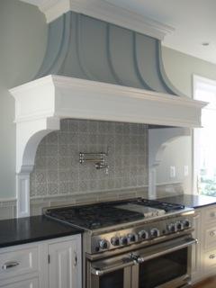 Custom Curve With Decorative Panels, Corbels And Zinc Finish